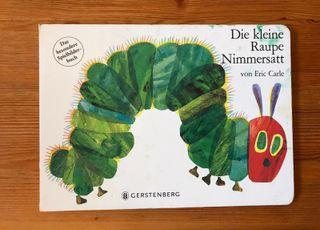 La pequeña oruga glotona. Versión en alemán.