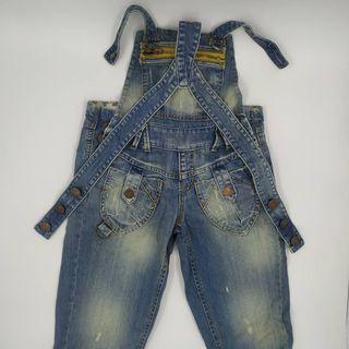 Peto Vaquero Mujer Denim Blanco Jeans