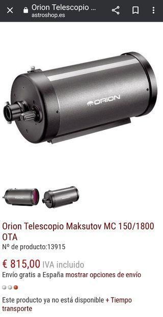 telescopio Maksutov 150/1800 Orión