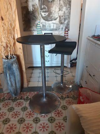 mesa alta y taburete