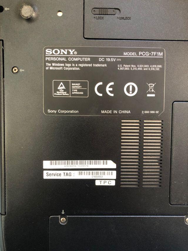 Ordenador portátil Sony Vaio VGN-FJ1S