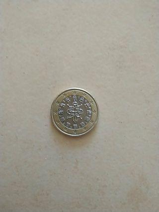 Moneda Portugal con fallo de impresión mapa