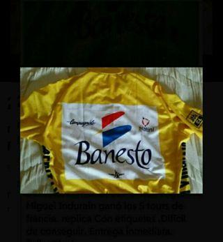 maillot amarillo Banesto tour de Francia Indurain