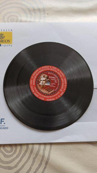 Sello postal - disco vinilo Beethoven 2020