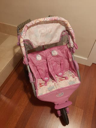 Carrito gemelar Baby born