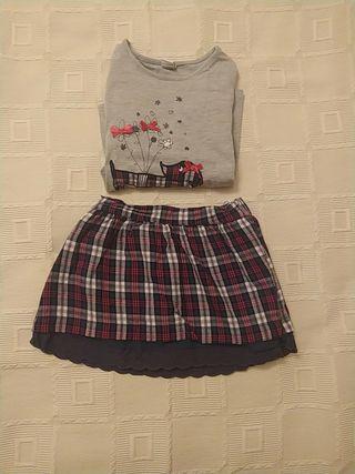 falda +camiseta
