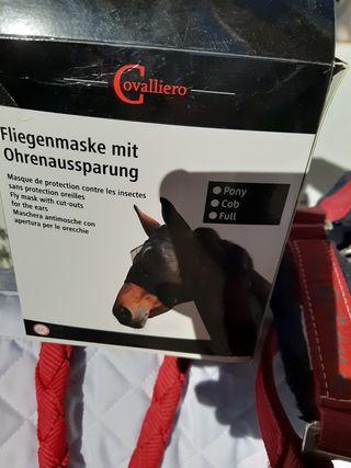 mascara pony/caballo protectora de moscas
