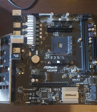 placa am4 ab350m asrock