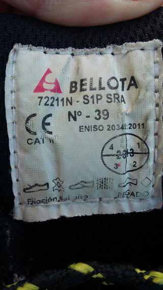 """ZAPATOS SEGURIDAD """"BELLOTA"""""""
