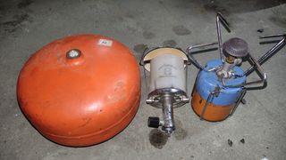 lampara a gas y hornillo Schott