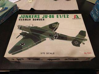 Maqueta vintage Ju86 e1/e2