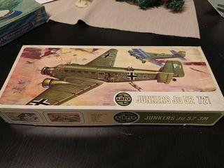 Maqueta vintage Ju 52. 1/72 de 1975
