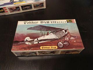 Maqueta vintage Fokker D VII 1/72