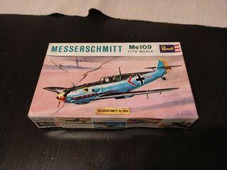 Maqueta vintage Bf109 E-3 de 1966