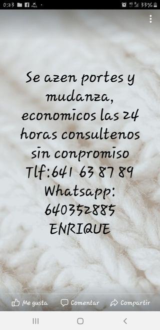 PORTES Y MUDANZAS 24H EXPRESS!!