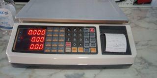 Bascula balanza mostrador con ticket nueva