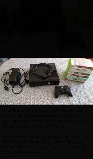 xbox360 con 6 juegos