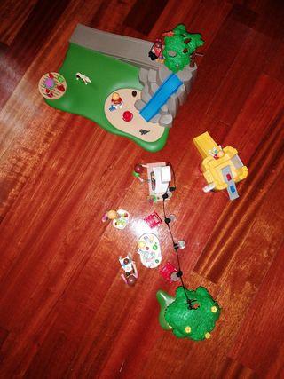 día de barbacoa y juegos en el parque playmobil