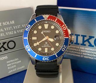 Reloj Seiko Solar Diver 200m Ref V157-0BT0