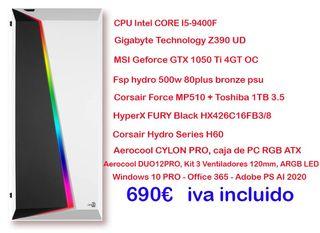 Ordenador i5 9400 RGB AEROCOOL GAMING