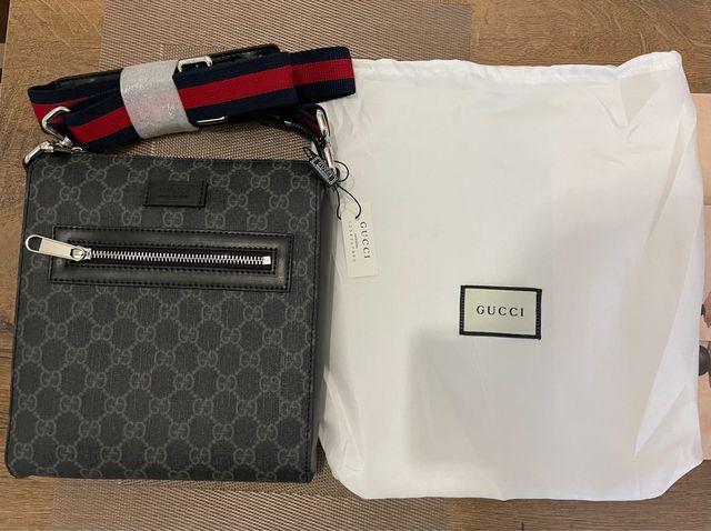 Black Gucci Messenger Bag