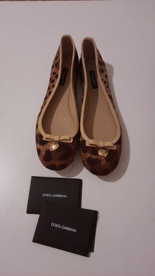 Bailarinas Dolce Gabbana estampado leopardo