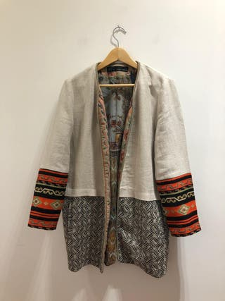 Chaqueta etnica Zara talla L