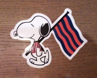 Adhesivo Snoopy Barça
