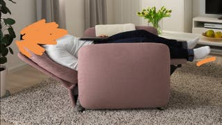 Sillón relax reclinable ikea rosa palo
