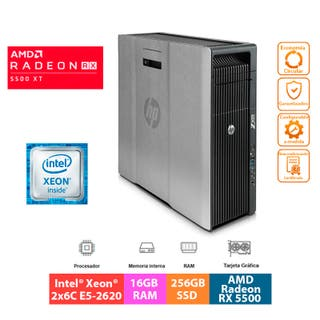 PC Gaming HP Z620 - AMD Radeon RX 5500 XT OC 8GB