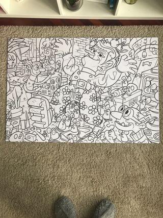 Puzzle carioca para pintar