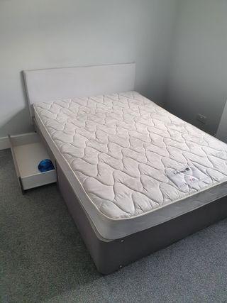 Layzee Double Divan Bed (Slate)