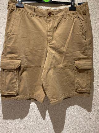 Pantalón corto multibolsillos Hollister hombre