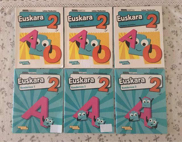 6 libros texto euskera Anaya segundo de primaria