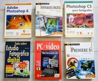 Grupo de 6 libros de fotografía y video digital