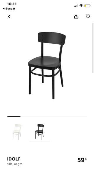 Silla Ikea Negra