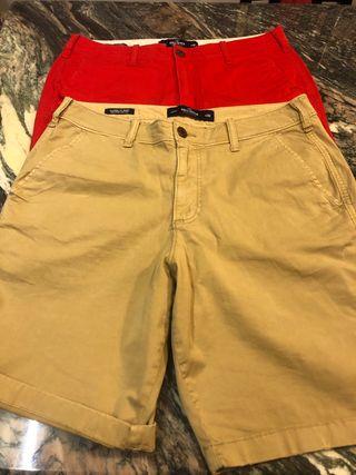 Shorts hollister talla 32 hombre