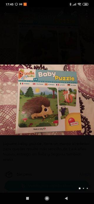 juguete baby puzzle, tiene un marco alrededor par