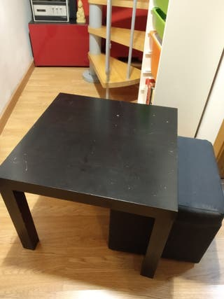 Mesa centro Ikea y puff (precio sola)