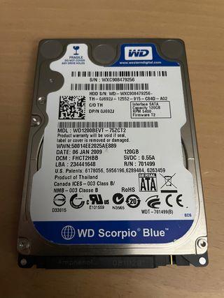 """Disco duro HDD 2,5"""" 120GB"""