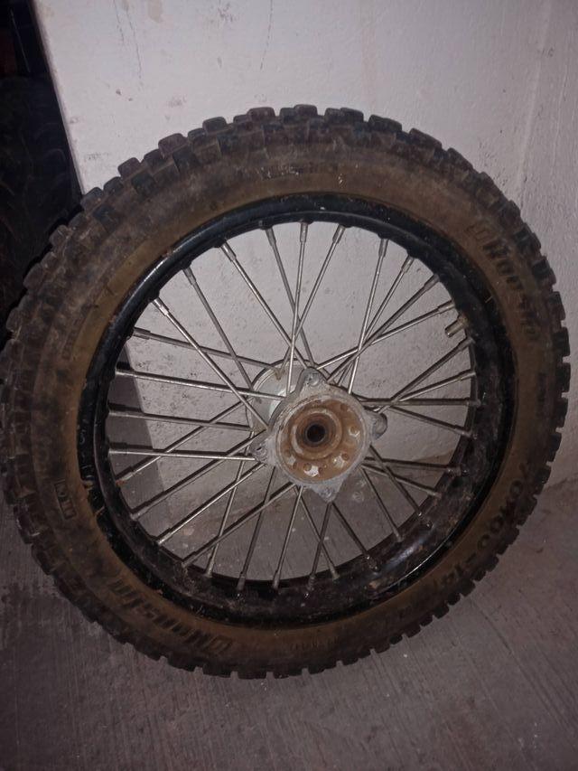 rueda delantera pitbike