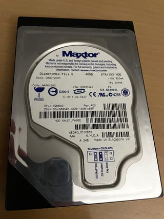 """Disco duro HDD 3,5"""" 40gb IDE"""