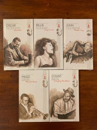 coleccion jazz characters (20 libros con doble cd)