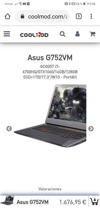 Asus i7 1060 6gb
