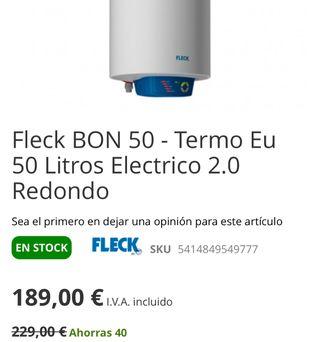 Fleck BON 50 - Termo Eu 50 Litros Electrico