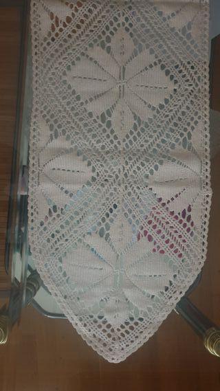 Tapete rectangular de ganchillo
