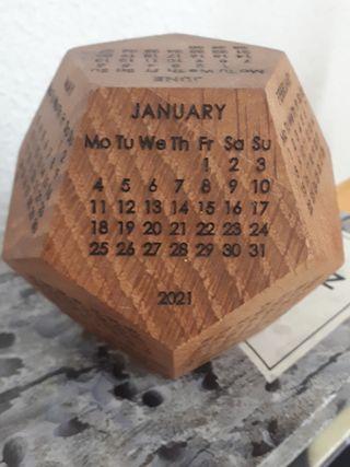 calendario madera 2021
