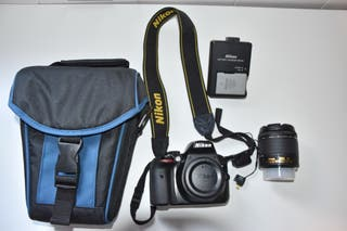 Cámara Reflex Nikon D3300 +objetivo+wifi+funda