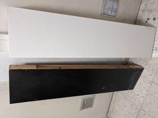 lote baldas Ikea LACK 110cm x26 cm