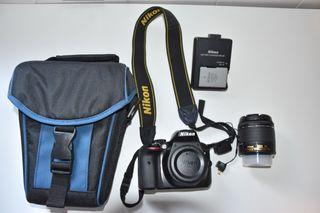 Kit Cámara Nikon D3300, objetivo, wifi y funda